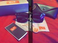 best rayban wayfarer men's women's sunglasses aviator clubmaster new box bag spinner gold black