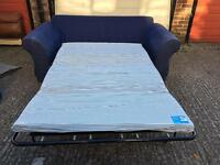 Blue sofa bed •free delivery •