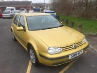 1998 VOLKSWAGEN GOLF 1.6 WITH 12 MONTHS M.O.T