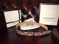gucci snake belt waist size 30-32