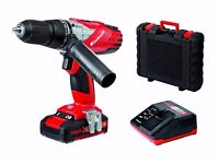 Einhell Power X-Change 18V Cordless Li-Ion Combi Impact Hammer Drill + CASE & WARRANTY! (RRP £100!)