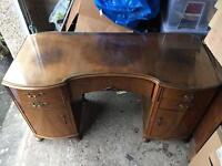 Vintage dressing table shabby chic with detachable mirror