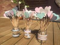 Wedding decoration - Hearts on sticks