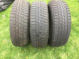 4 Wheels/winter tyres 195/65/15