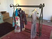 vintage style clothes rail