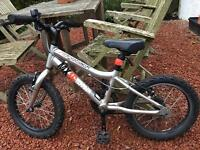 Ridgeback MX16 boys girls childs kids bike silver