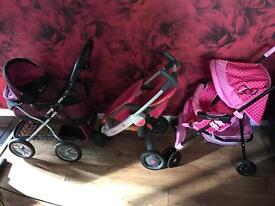 Dolls pram and pushchairs