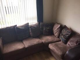 Large Brown Sofa Set