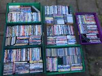 Massive joblot of CDs DVDs and games