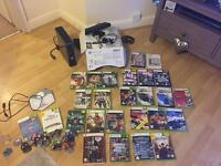 Boxed Xbox 360 250g with Kinect 24 games