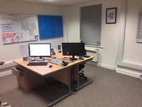 Office desk and pedestals