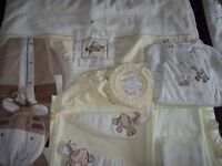 MAMAS AND PAPAS ZEDDY & PARSNIP COT BEDDING BUNDLE INC CURTAINS,DUVET,BLANKETS,SHEETS,SLEEPING BAG