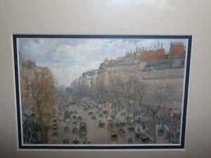 "Camille Pissarro ""Boulevard Montmartre"" 1897 Art Print/Matted London Ontario image 2"