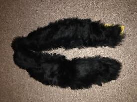 Vintage black faux fur collar