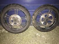 yamaha yzf 125 wheels with tyres £50