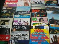 record albums and singles