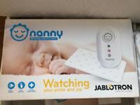 Nanny Baby Breathing monitor + 3 extra sensor pads RRP£225