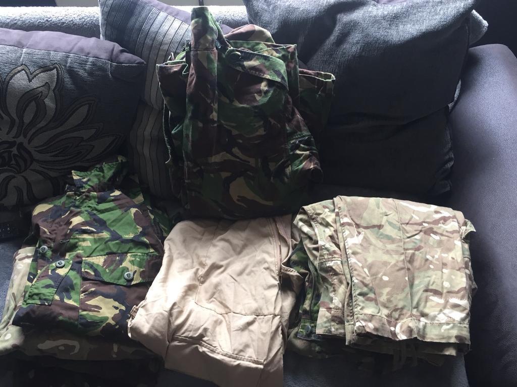 Job lot of army surplus clothing
