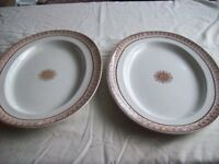 Pr of Spode/Copeland Meat Platers