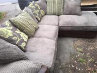 Corner sofa , cord. Can deliver