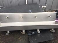 Hand wash stainless steel troughs