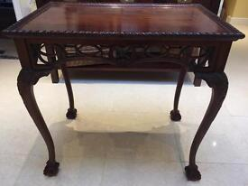 Carved Gothic Revival Side Occasional Table