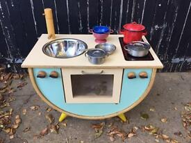 Vintage retro childrens kitchen oven
