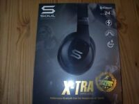 SOUL X-TRA Wireless Over-Ear Headphones with Bluetooth 4.0 for Smartphones