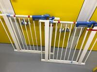 Pair of Lindam child stair gates