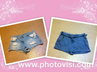 2 pairs of womens size 10 blue denim shorts