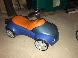 BMW sit on child car
