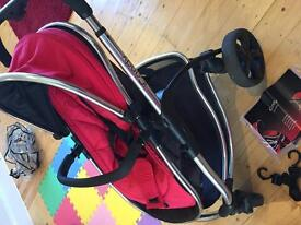 I candy strawberry pram and carrycot