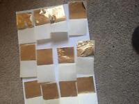 """24ct gold leaf 2"""" squares"""