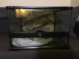 ExoTerra Glass Vivarium for Reptiles. 45x45x30cm. RRP £100+
