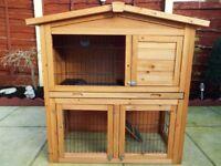 rabbit/guinea pig hutch & run