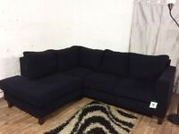 New habitat black fabric corner sofa**Free delivery**
