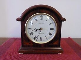 Clock for sale - Mahogany coloured finish - traditional style mantelpiece clock.