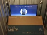 "Samsung 65"" 4K CURVED smart led freeview HD"