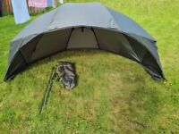 """Carpzone 60"""" fishing shelter/brolley"""