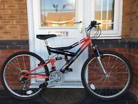 BARGAIN. ADULTS FULL SUSPENSION MOUNTAIN BIKE.