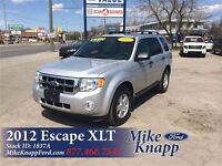 2012 Ford Escape XLT V6 4X4 *One Owner *Leather *MoonRoof *SYNC