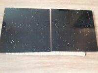 Star Stone Black Quartz floor tiles 30 x 30 cms