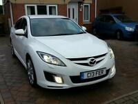 MAZDA 6 SPORT 2.2D PEARL WHITE LOW MILES ( NEW ENGINE FITTED 2015)