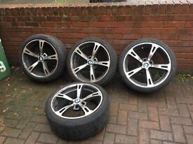 """Bmw 18"""" Alloy wheels & tyres e60 e65 5 series 7 series ac schnitzer style"""