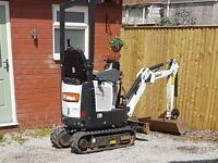 Mini digger & driver for hire