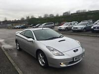 2002 02 TOYOTA CELICA 1.8 VVTI FULL LOADED TOP SPEC 6 SPEED IMMACULATE LOW MILLAGE BARGAIN