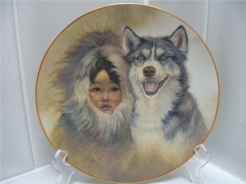 RARE Perillo Siberian Husky Dog Eskimo Child Plate MINT