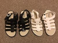 Size 7 jelly gladiator sandals