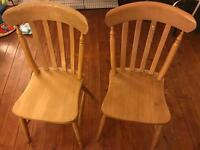 Wooden Chairs x2
