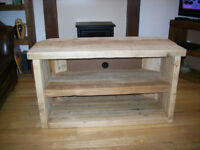 New reclaimed timber TV stand